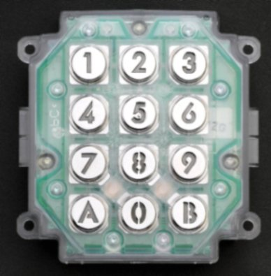AC10U Keypad Mechanism For Installing In A Custom Panel